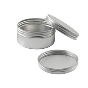 barattoli alluminio atossici con tappo a vite