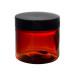 barattolo pet ambrato da 500ml con tappo nero