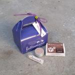 scatolina regalo contenente tre prodotti vaniglia e argan
