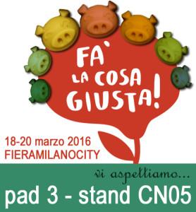 Fa la cosa giusta 18-20 marzo fieramilanocity sezione cosmesi naturale stand cn05