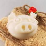 sapone maialoso con spugna luffa a forma di fiore confezione regalo