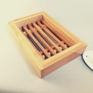 portasapone in legno di bamboo