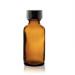 boccetta di vetro ambrato da 30 ml con tappo contagocce com sigillo di garanzia