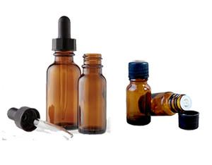 boccette vetro ambrato varie misure, disponibile tappi contagocce e tappo pipetta