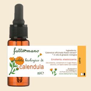 Oleolito di calendula biologico italia