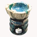 fornelletto brucia essenze in ceramica Raku
