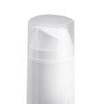 flacone airless in PP bianco da 150 ml