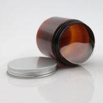 vaso pet ambra con tappo in alluminio