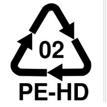 Codice identificativo di riciclaggio del polietilene ad altà densità
