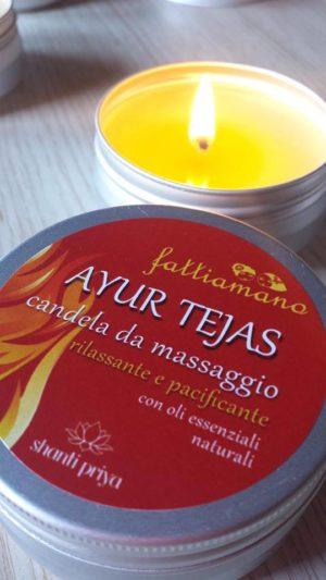 candela da massaggio ayurvedica tejas