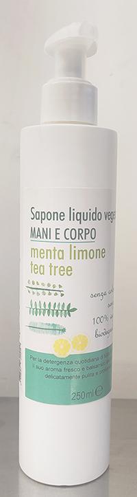 sapone liquido vegetale LIMONE E TEA TREE