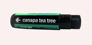 balsamo labbra nero con olio di canapa biologico limone e tea tree.