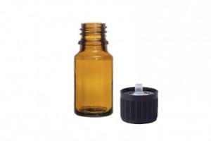 boccetta vetro ambrato con tappo contagocce
