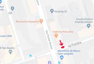 come raggiungerci in via Prandina a Milano