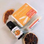 confezione regalo tre prodotti arancio e cannella