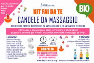 KIT FAI DA TE 3 candele da massaggio ayurvediche