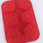 stampo silicone fiocchi di neve 6 cavità