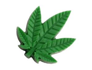 stampo silicone foglie di canapa